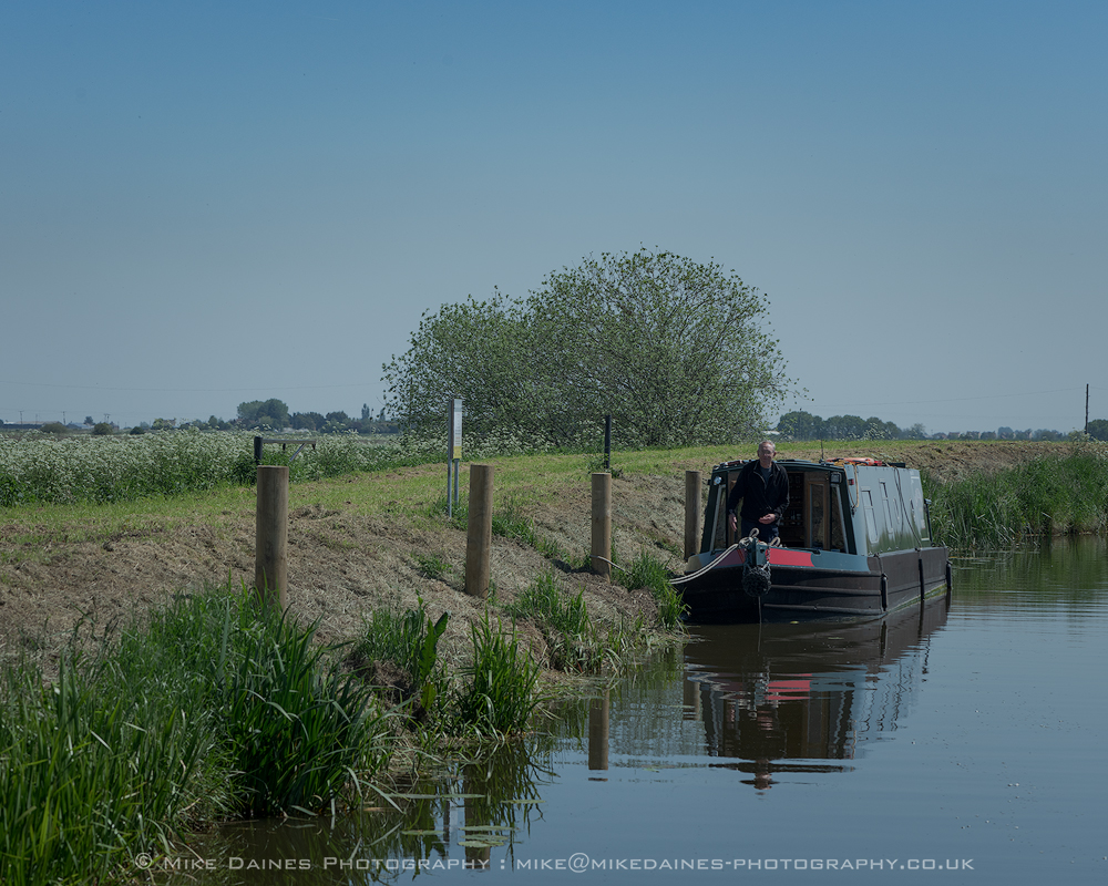 John Revell aboard Olive Emily moored on one of the new MLC rural moorings.