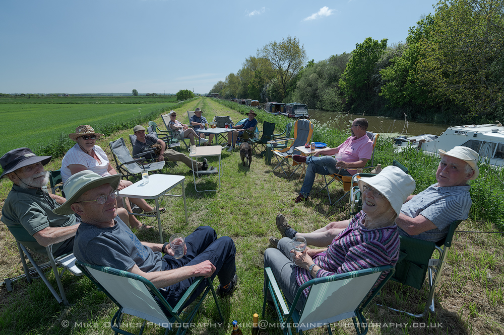 Choose your seat at Woodwalton - Pimms anyone?