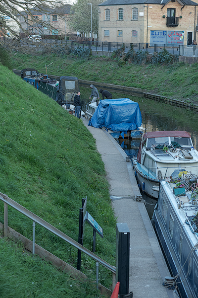 The March Town mooring before notices were served on overstayers.