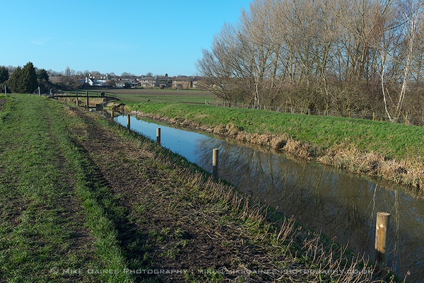 One of the new rural moorings installed at Yaxley Lode.